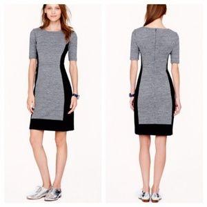 Grey and Black Color Block Dress | J Crew